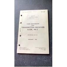 USER HANDBOOK FOR TRANSMITTER RECEIVER A43R MK2